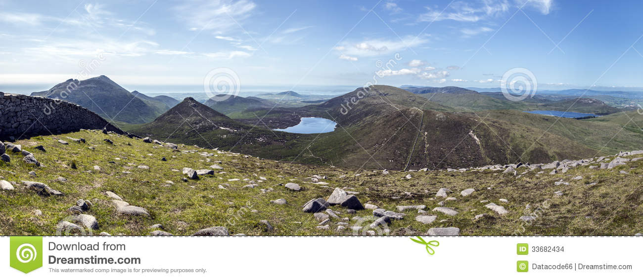 Download Panorama Mourne Mountains North Ireland Stock Photo - Image of panoramic, irish: 33682434