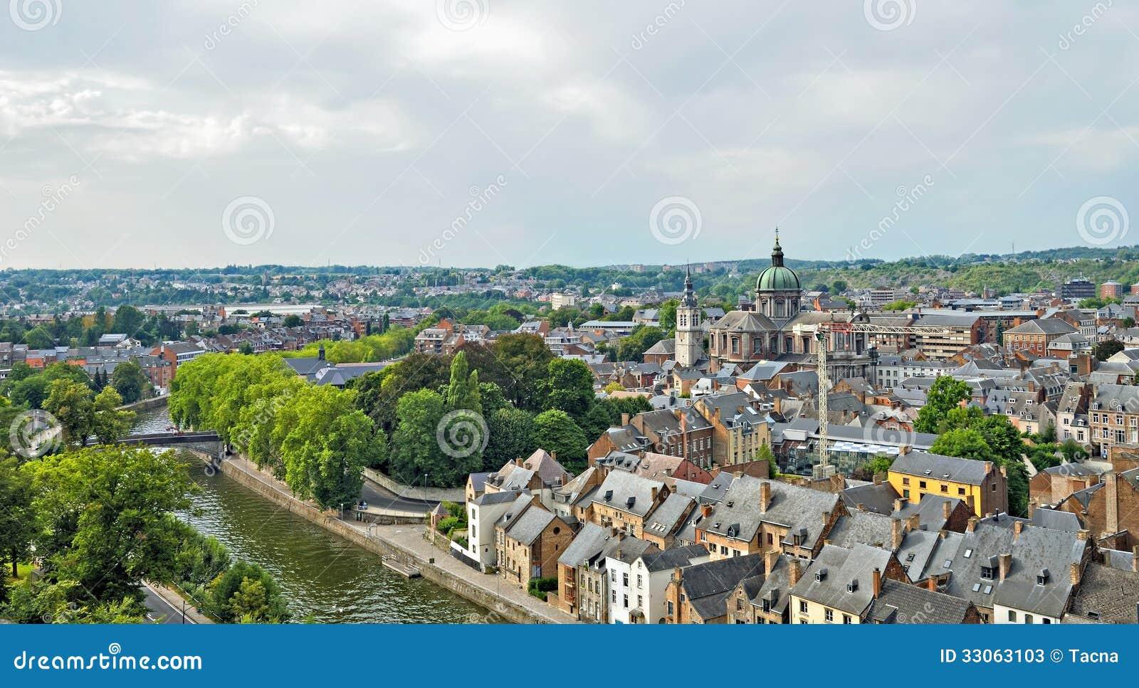 Panorama of namur belgium stock photos image 33063103 for Center carrelage namur