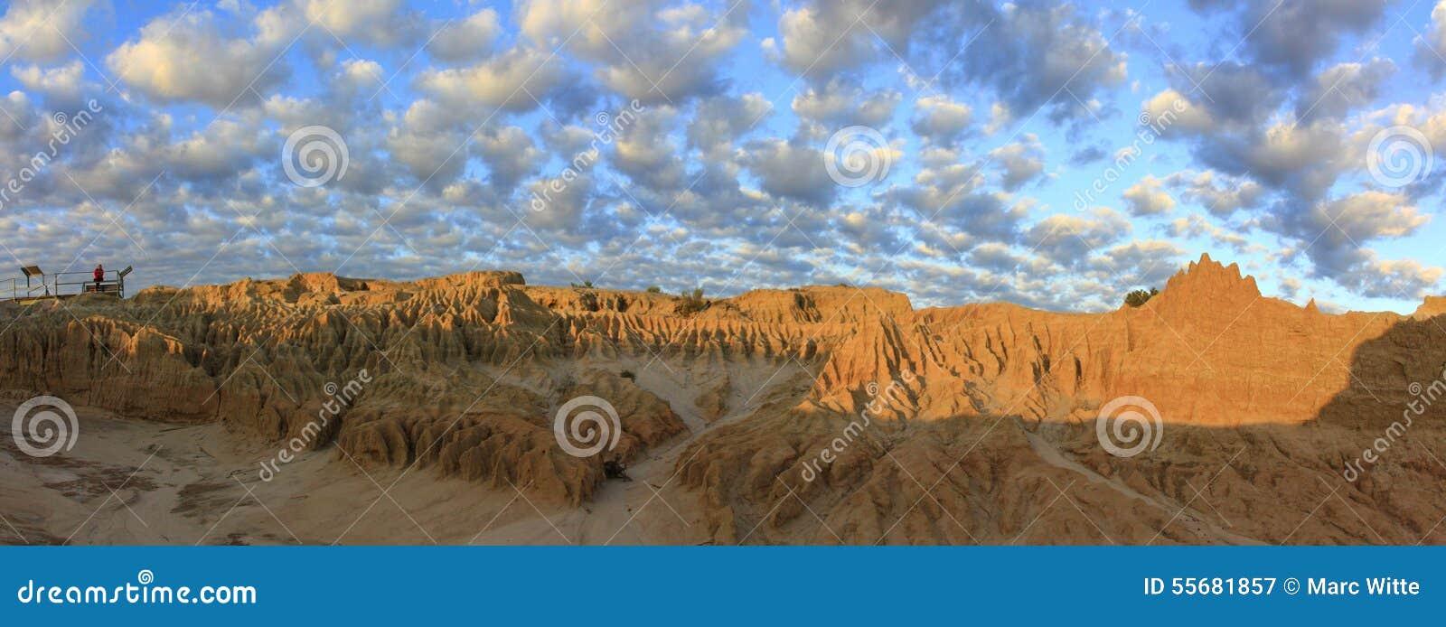 Panorama - Nationalpark des Mungos, NSW, Australien
