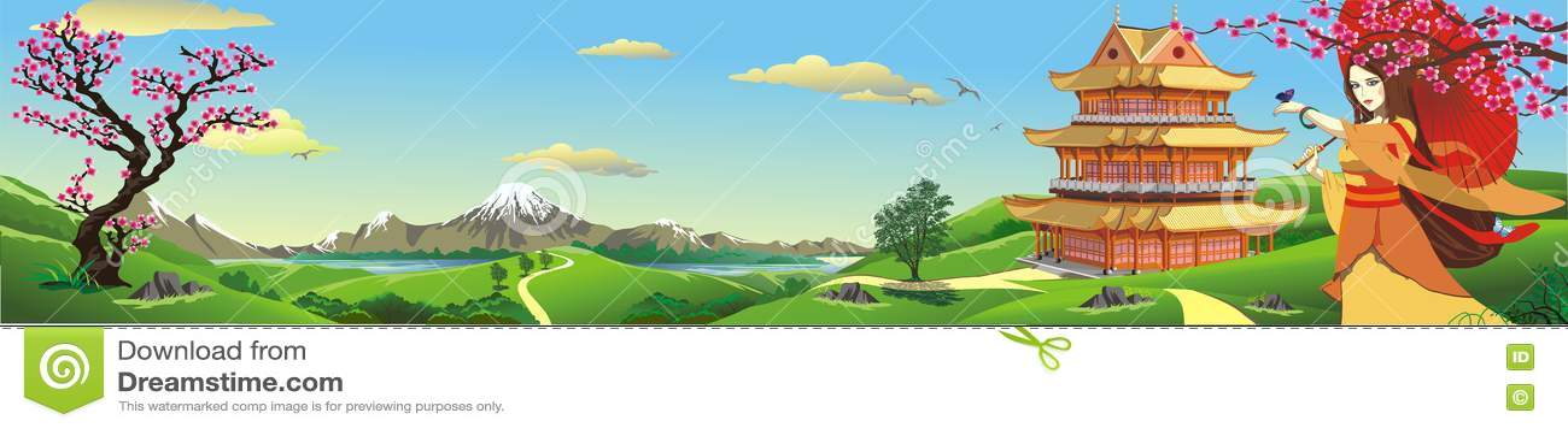 Panorama, natura w Japonia