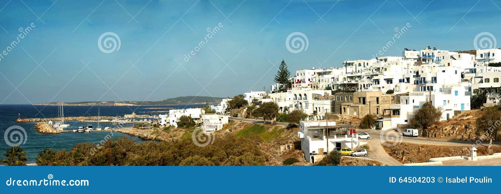 Panorama of Naxos in Greece