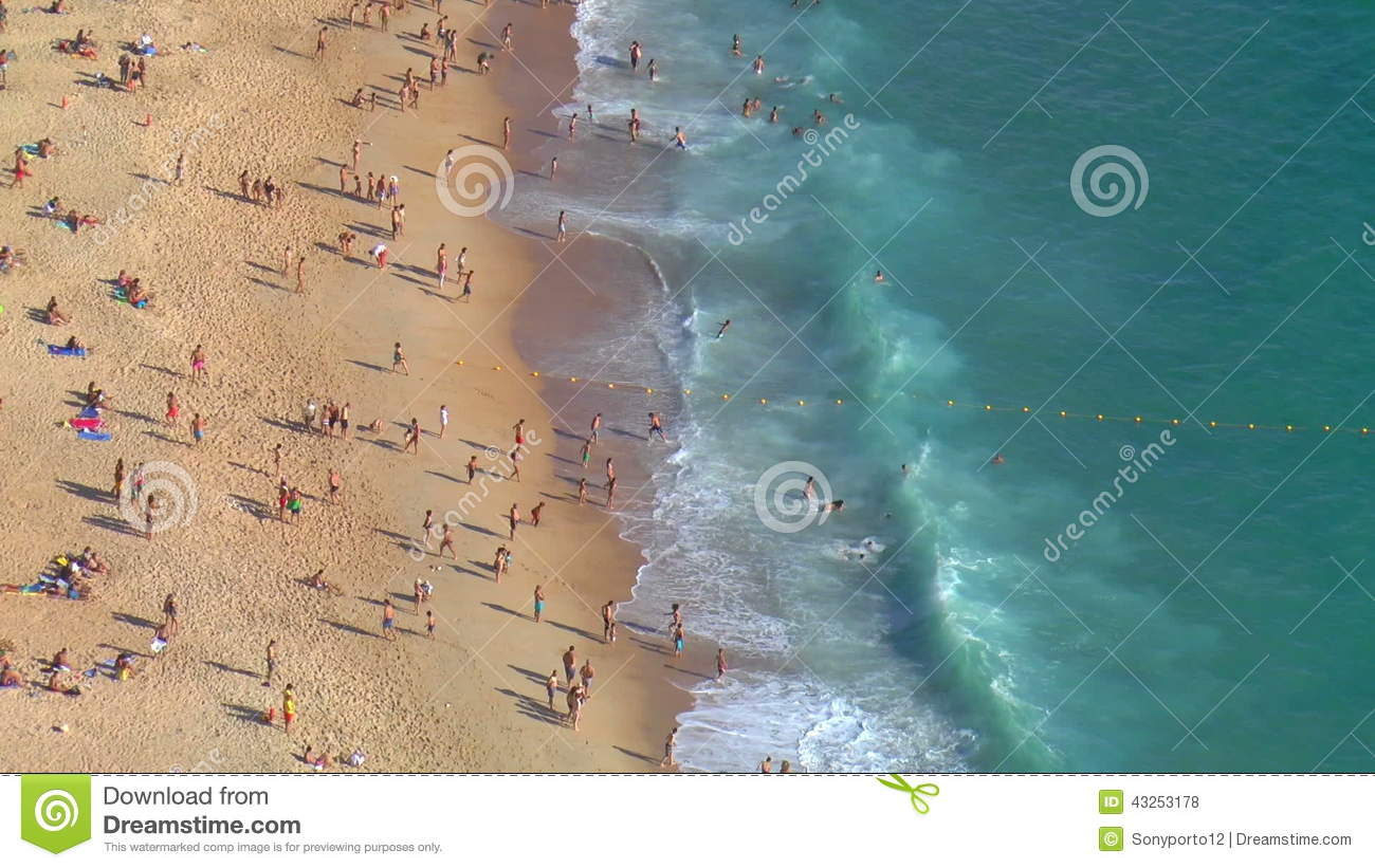 Panorama Of Nazare Portugal Stock Footage Video - Portugal map nazare