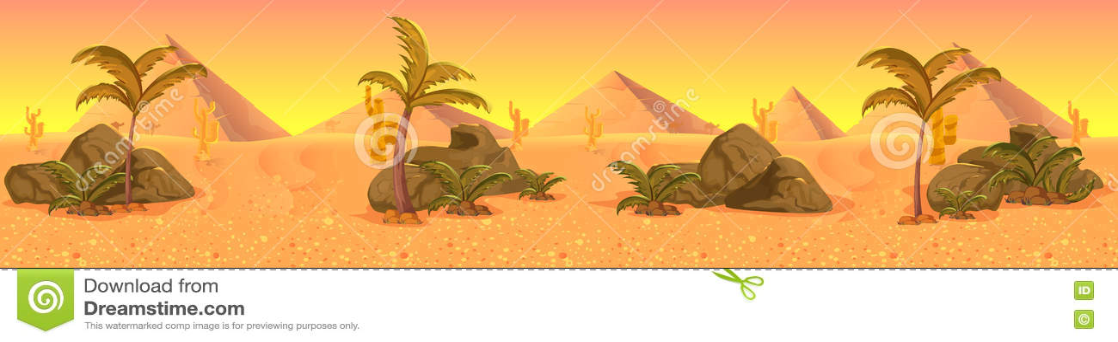 Panorama occidental sauvage de paysage de désert