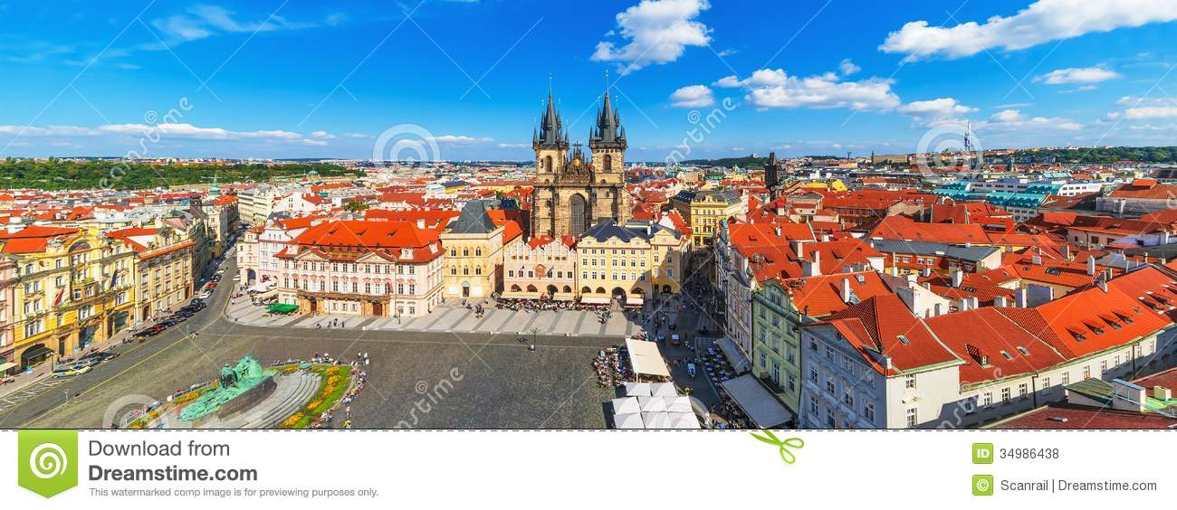 ... In Prague, Czech Republic Royalty Free Stock Photos - Image: 34986438