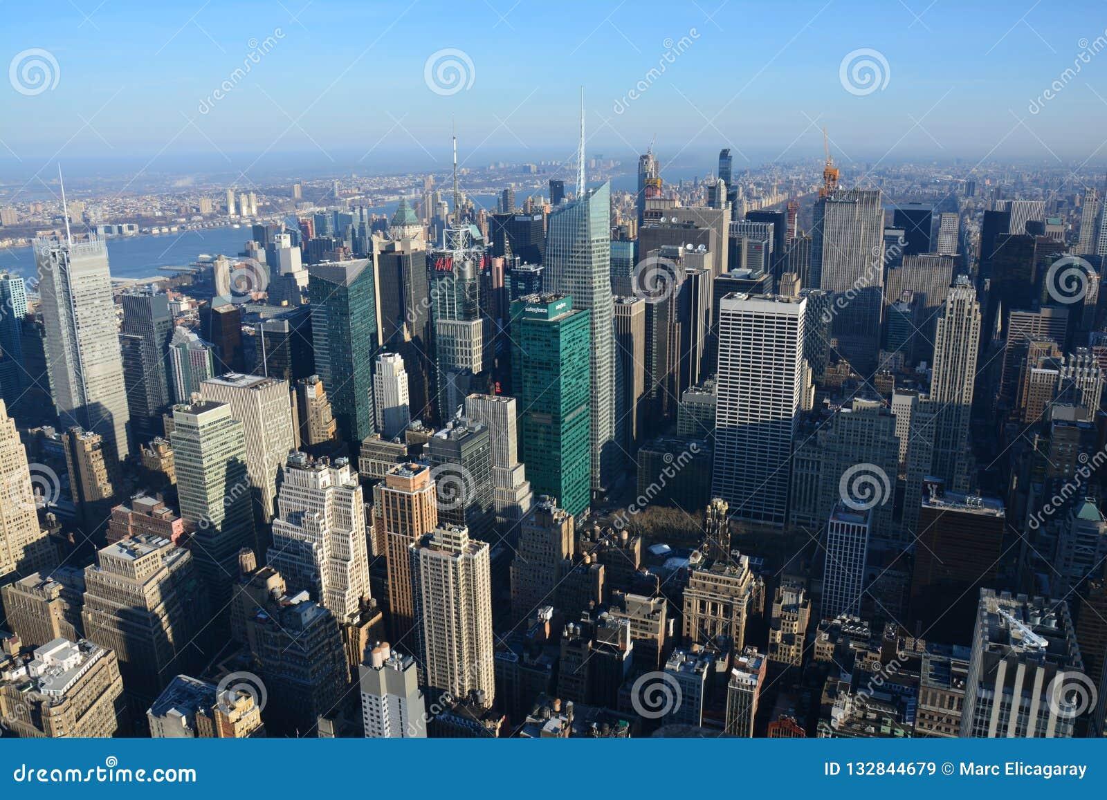 Panorama op de Stad van New York van het Empire State Building