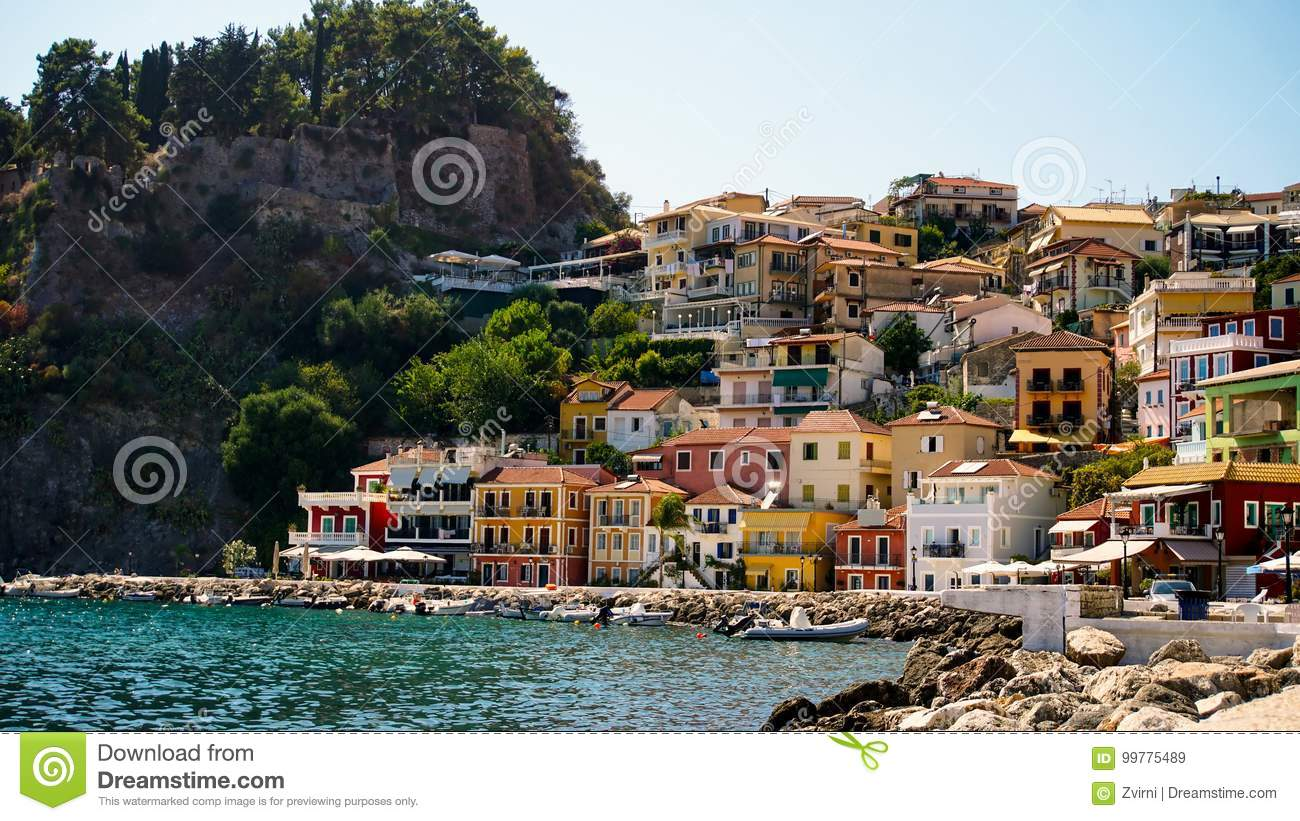 Panorama of Parga town