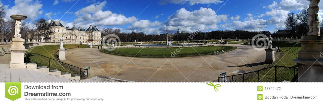 Panorama of a park stock photography image 13320472 for Jarden france