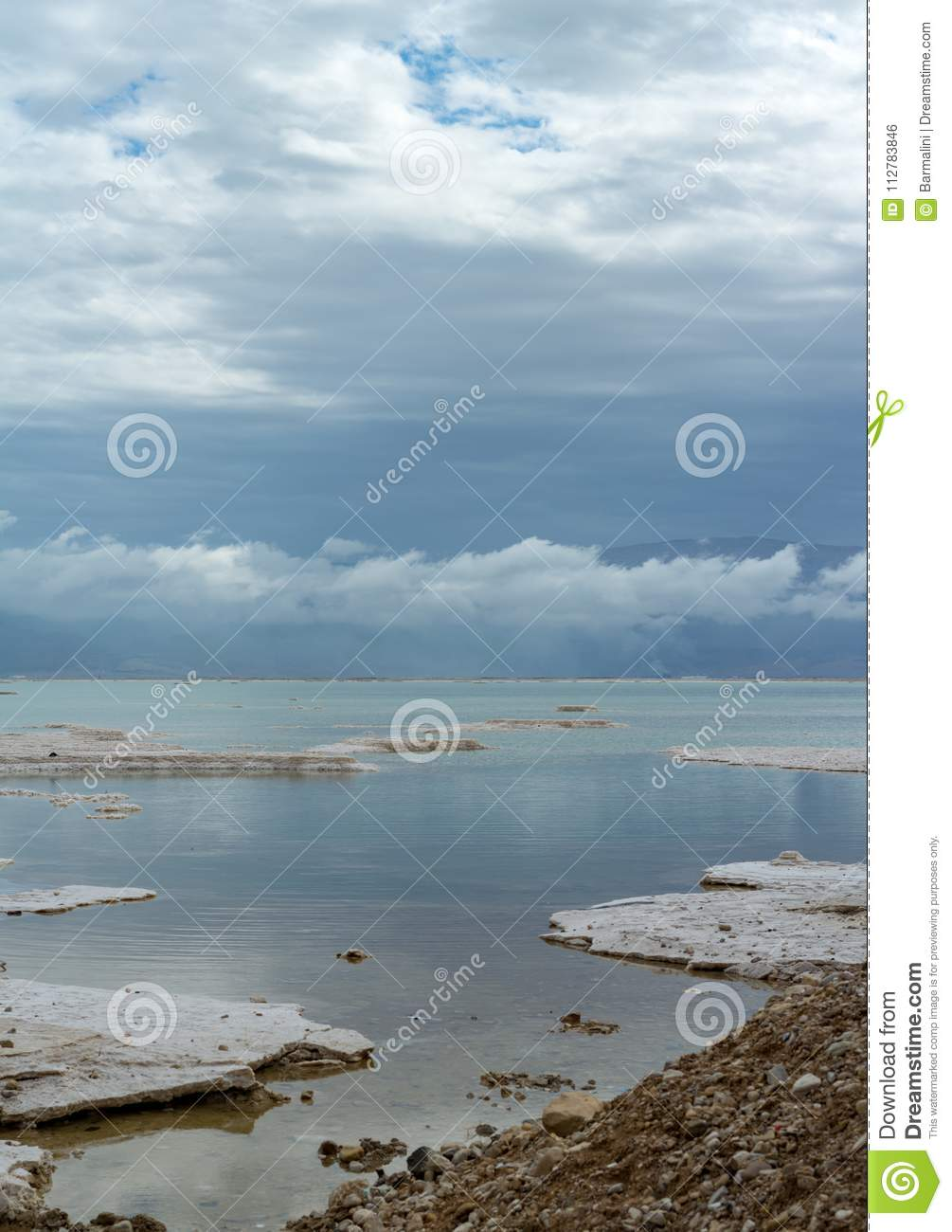 Panorama Photo Of Lowest Salty Lake In World Dead Sea, Full