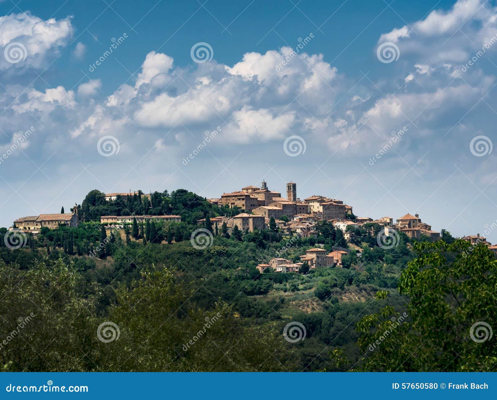 Panorama Pienza w Tuscany