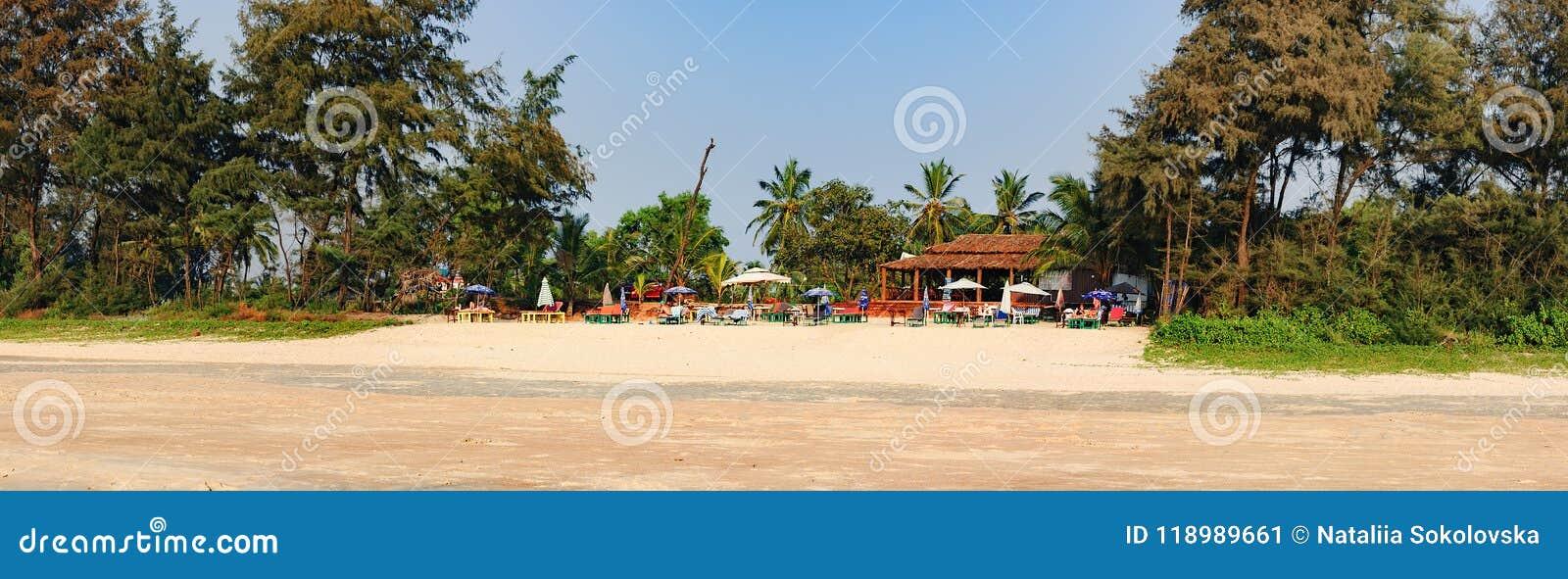 Panorama plaża, Południowy Goa, India