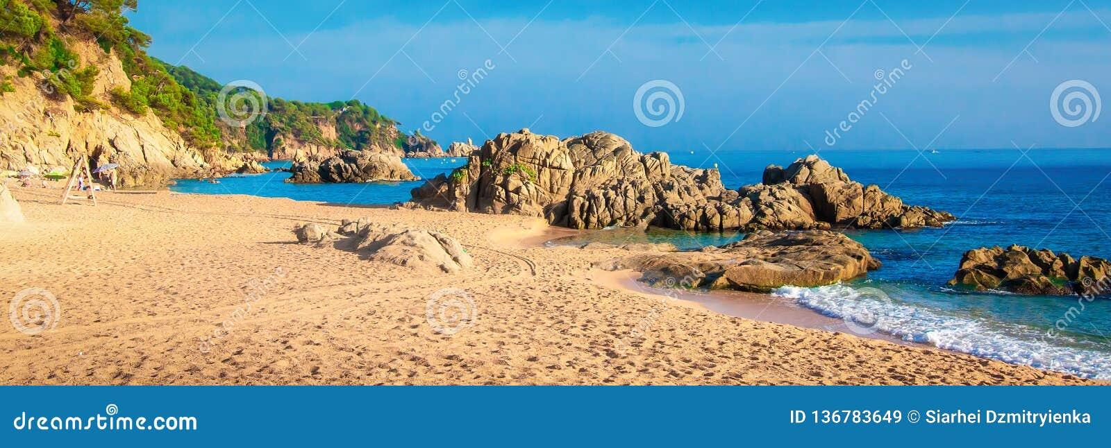 Panorama plaża w Hiszpania, Ibiza