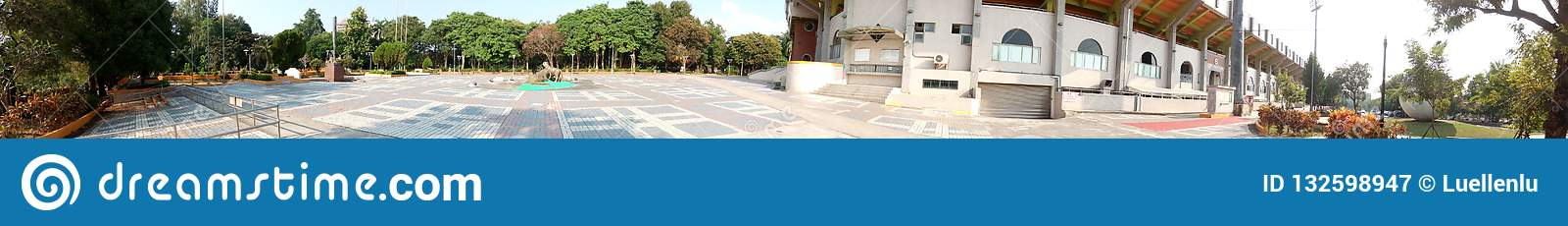 Panorama - plac na zewnątrz Chiayi miasta stadionu baseballowego