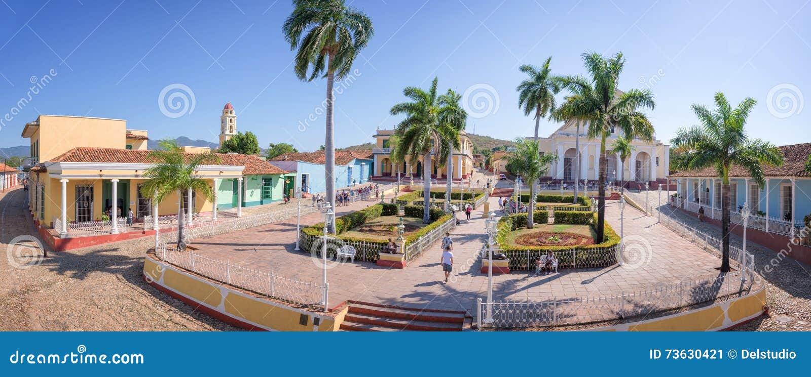 Panorama placu Mayor, Trinidad, Kuba