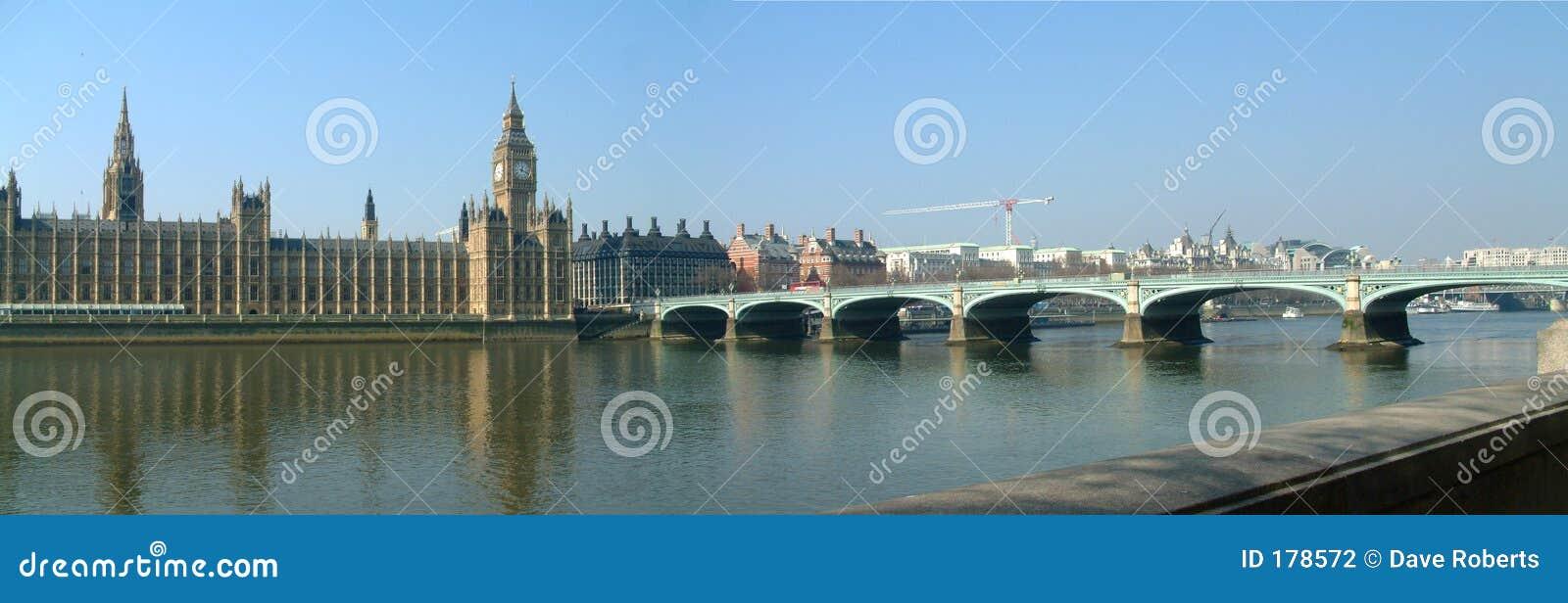 Panorama - puente del parlamento y de Westminster