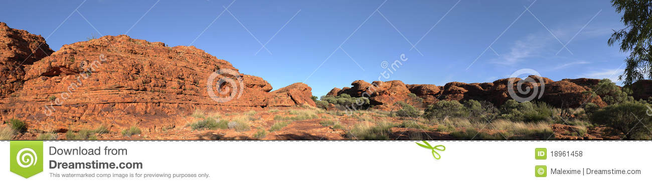 Panorama of the rock in Kings Canyon