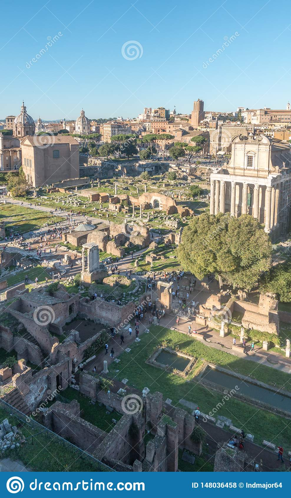 Panorama Roman Forums
