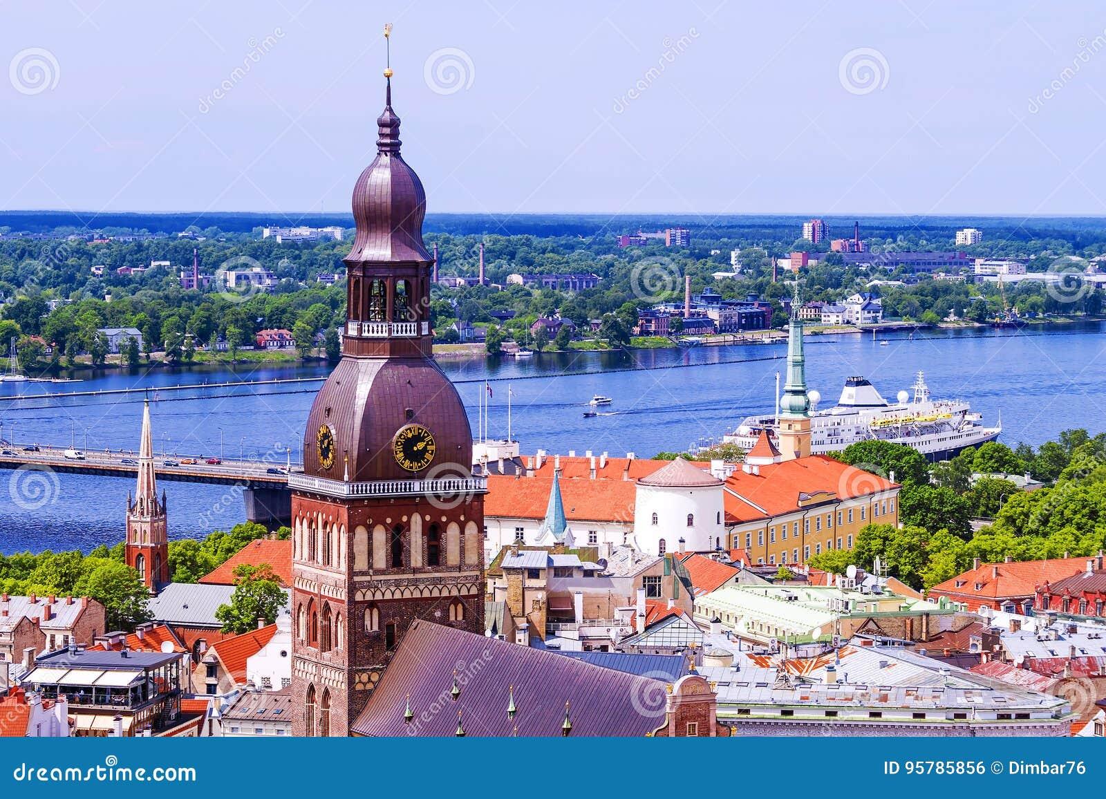 Panorama Ryski, widok kopuły katedra
