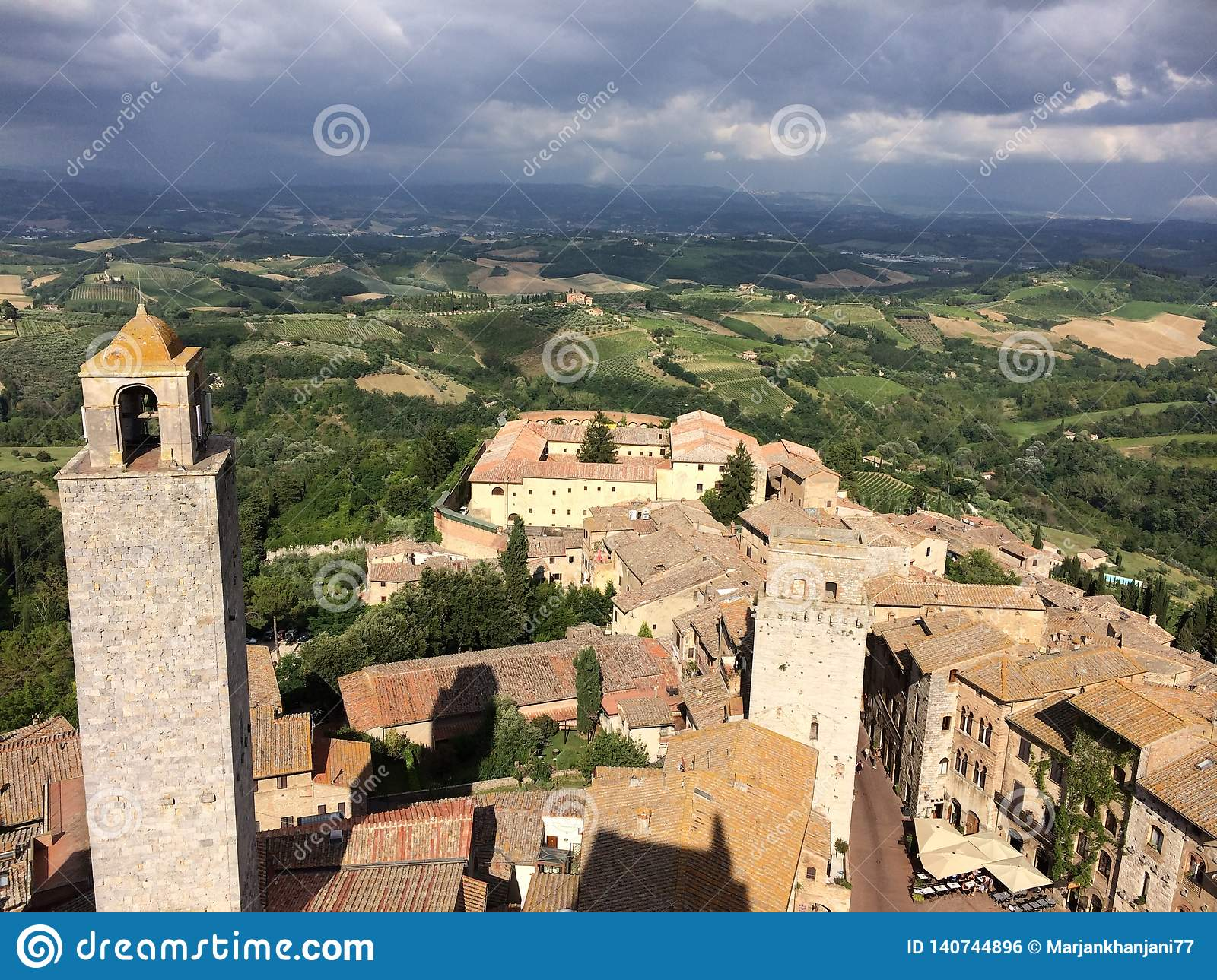 Panorama of San Gimignano in Chianti