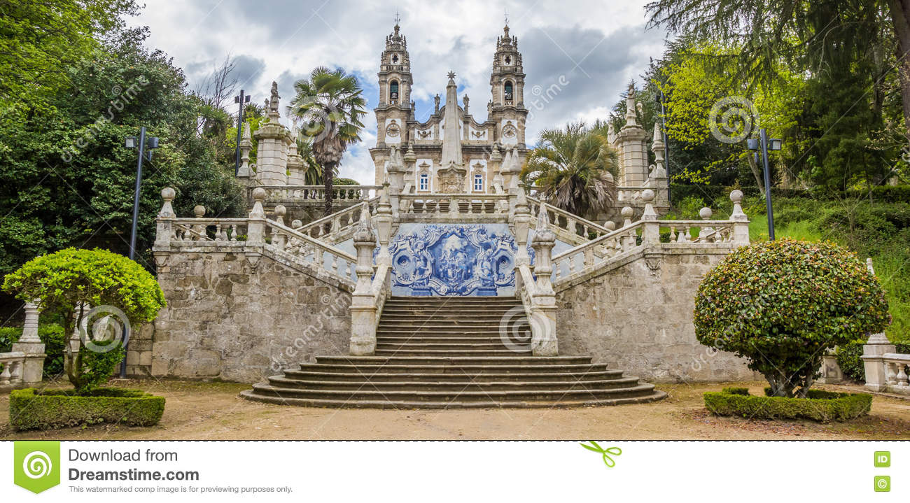 Panorama Of Sanctuary Of Our Lady Of Remedios In Lamego