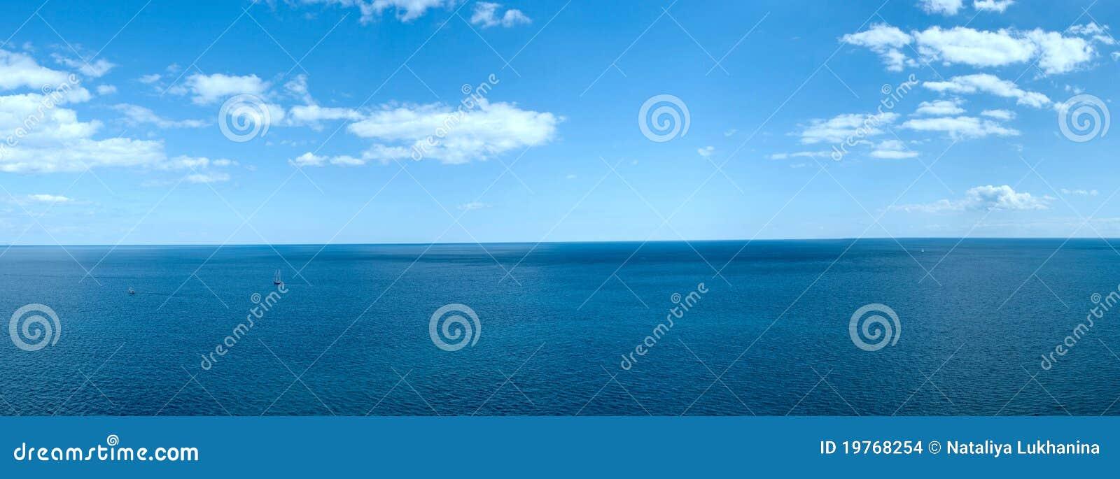 Panorama of a sea landscape