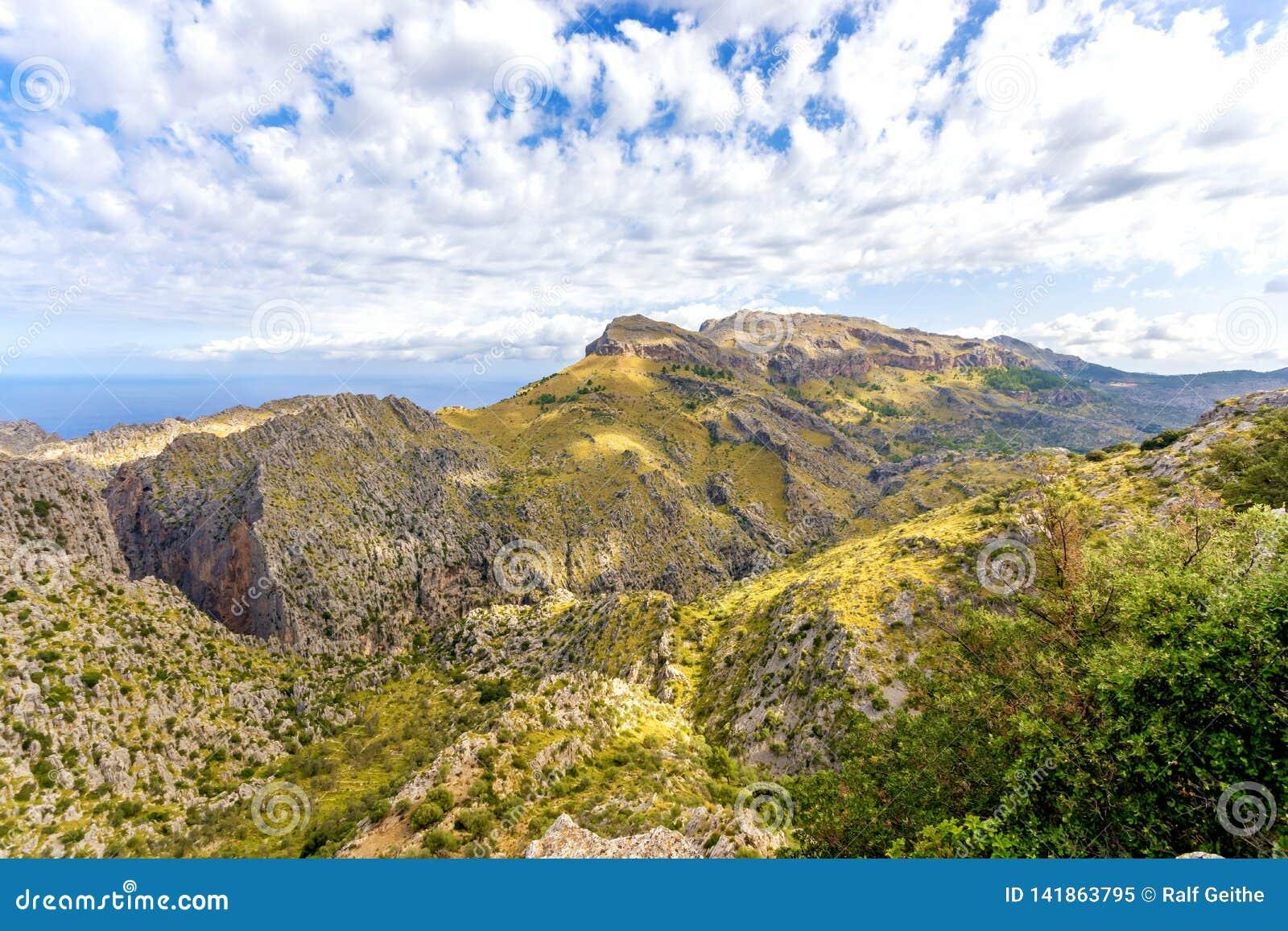 Panorama in the Sierra de Tramuntana
