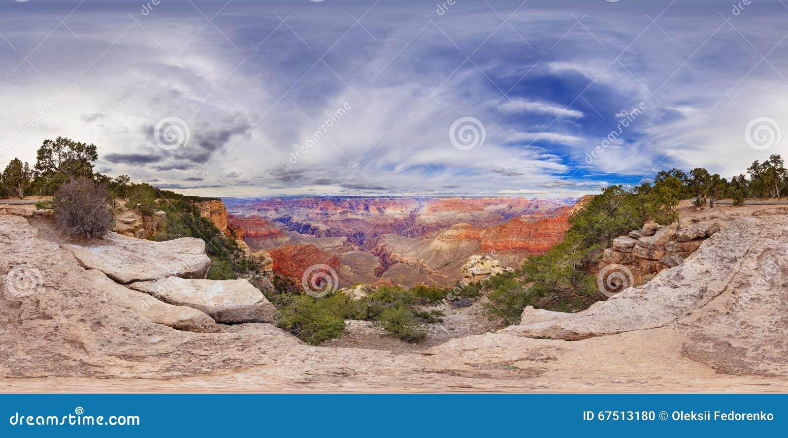 Panorama sphérique de 360 degrés de Grand Canyon