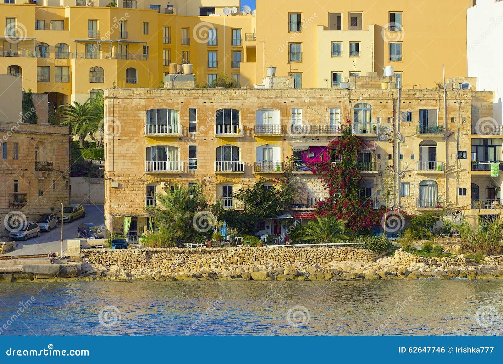 Panorama of St Julians in Malta
