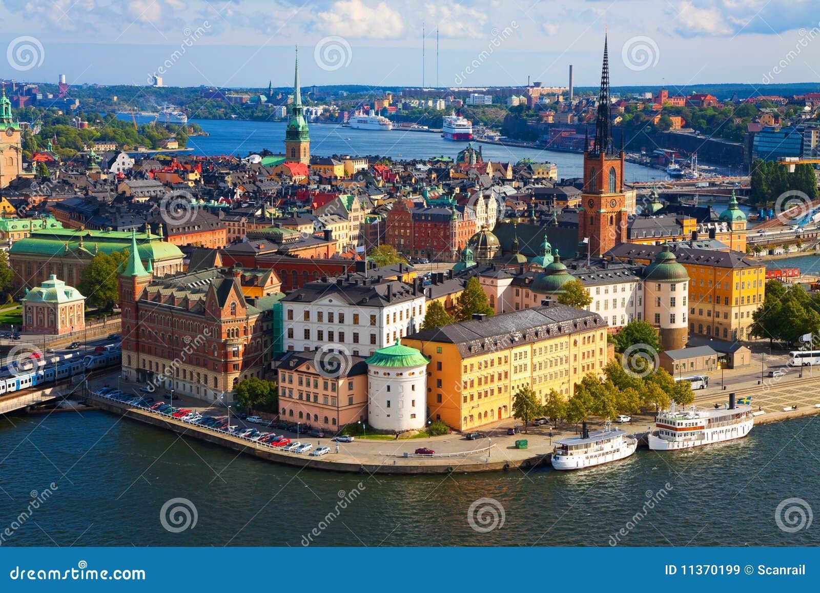 Panorama stockholm sweden