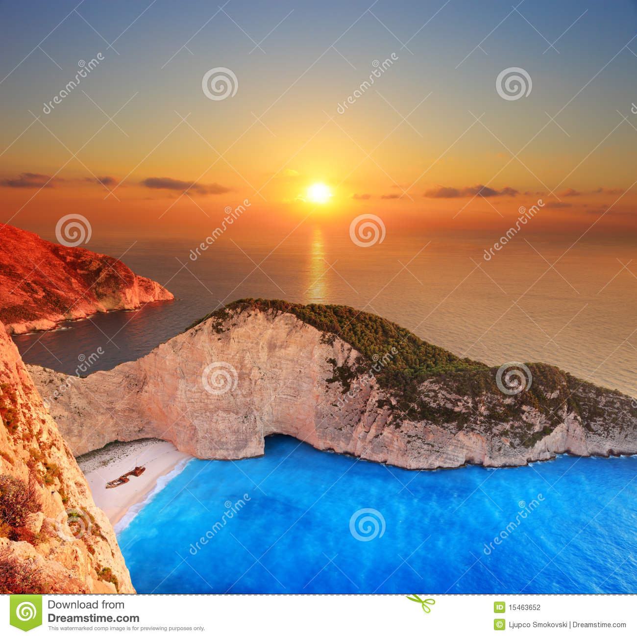 Sunset over Zakynthos