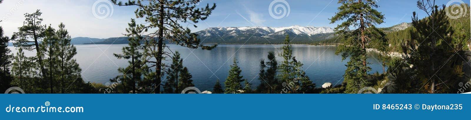 Panorama- tahoe för lake