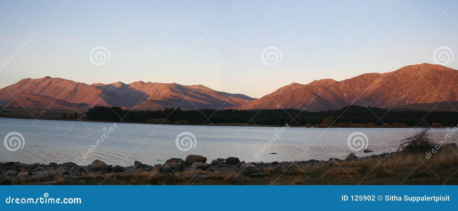 Panorama tekapo jezioro nowej Zelandii