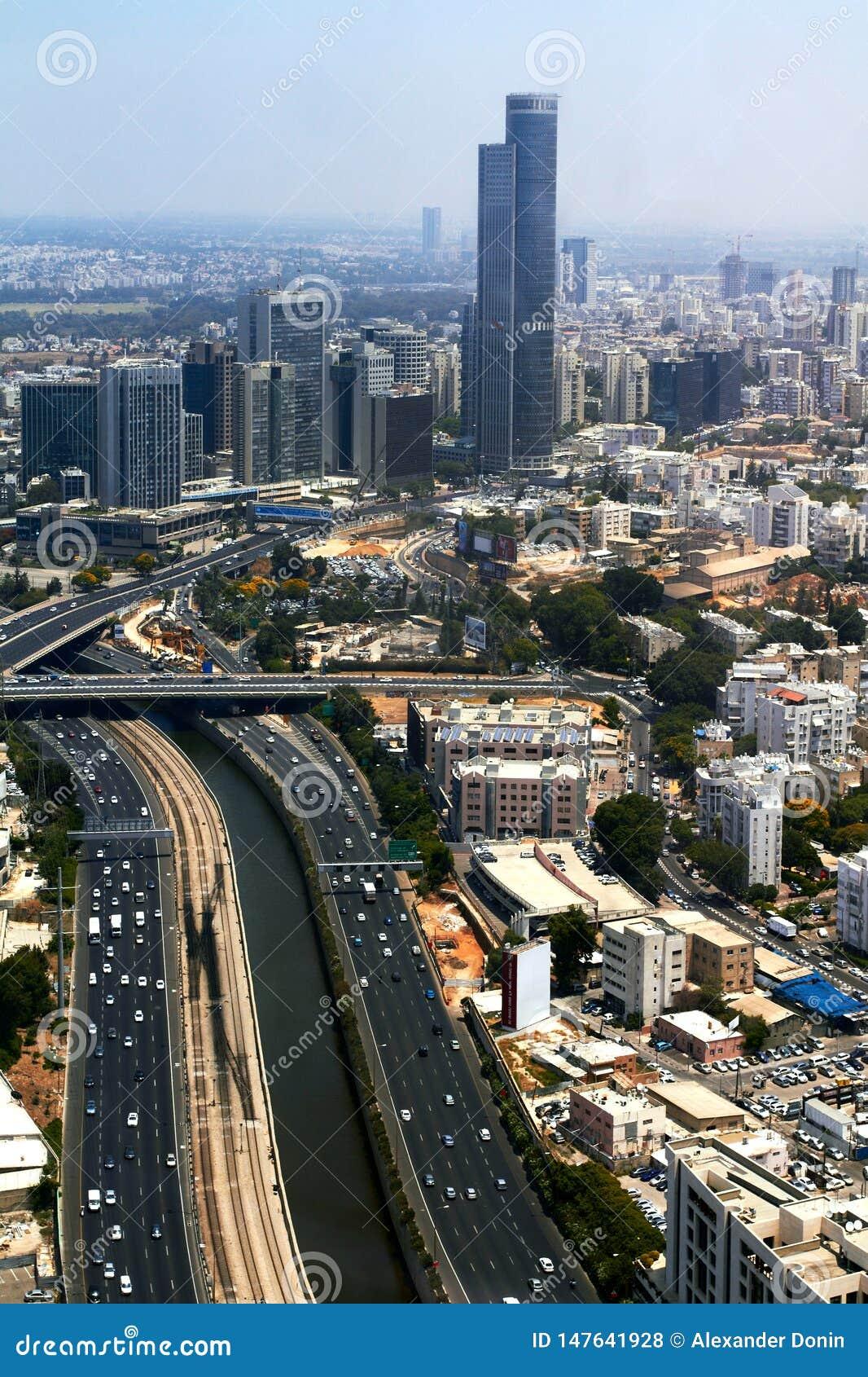 Panorama of Tel Aviv, Israel