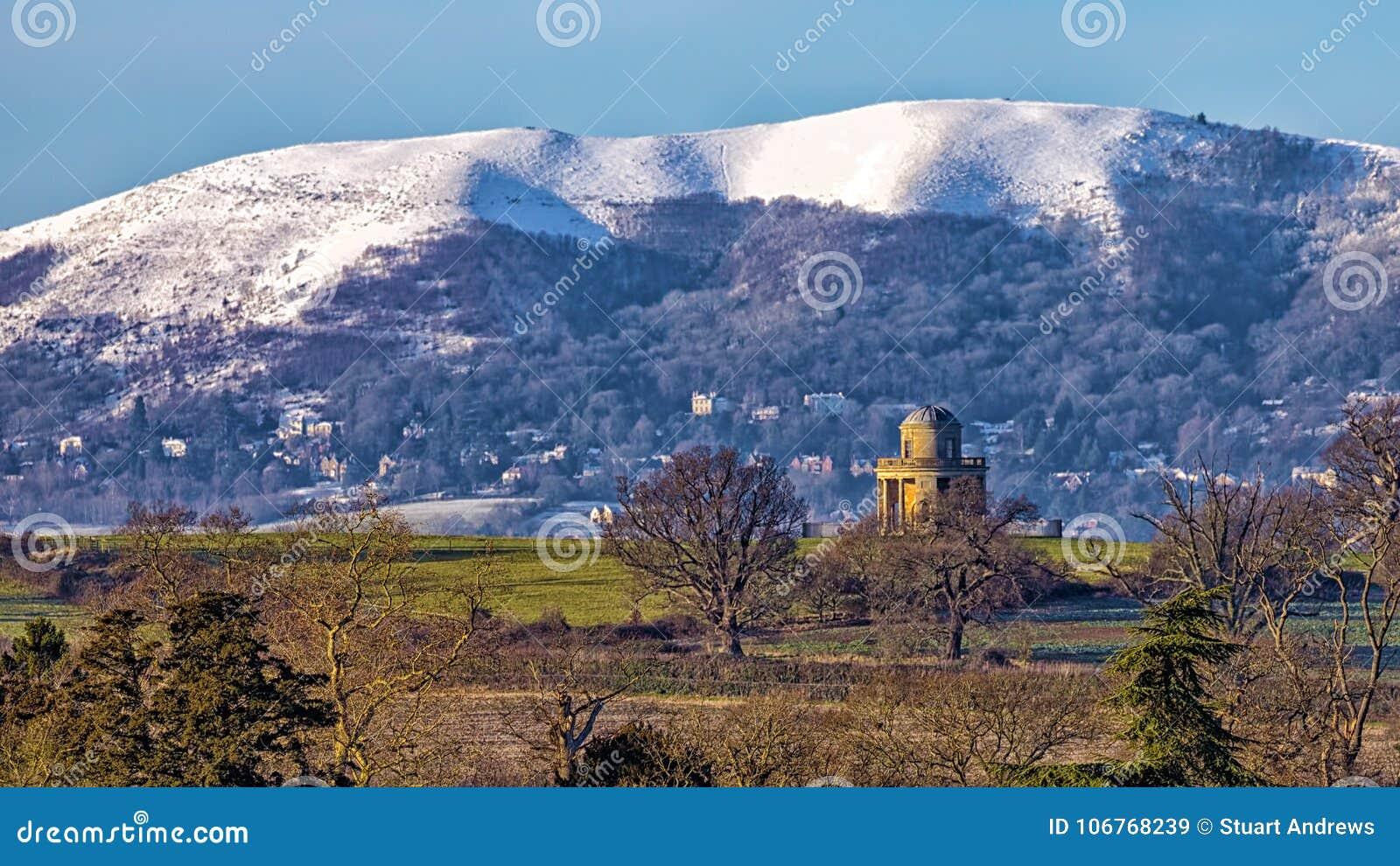 Panorama-Turm und Malvern-Hügel, Worcestershire