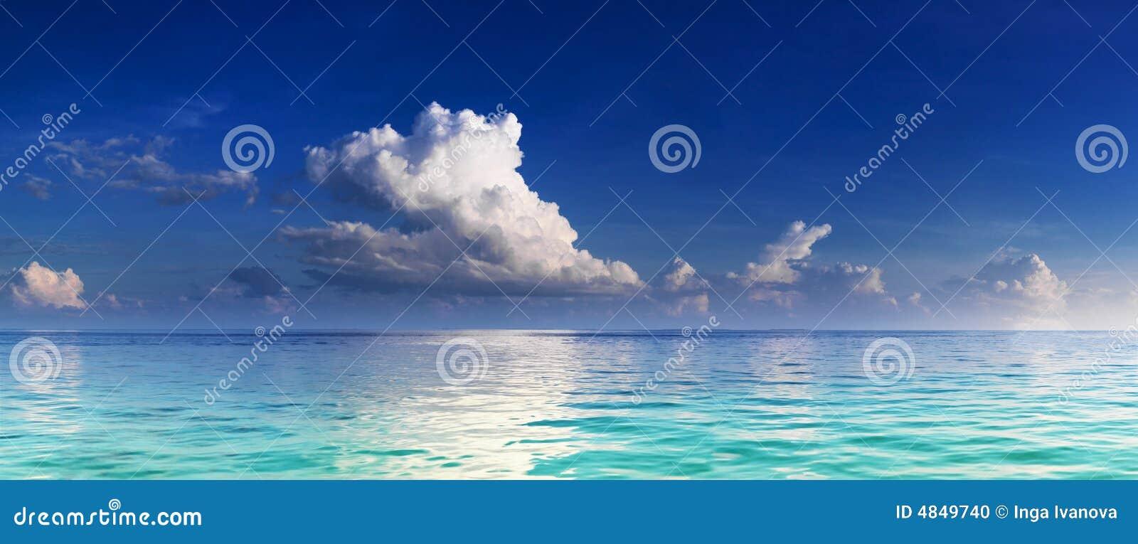 Panorama of turquoise lagoon
