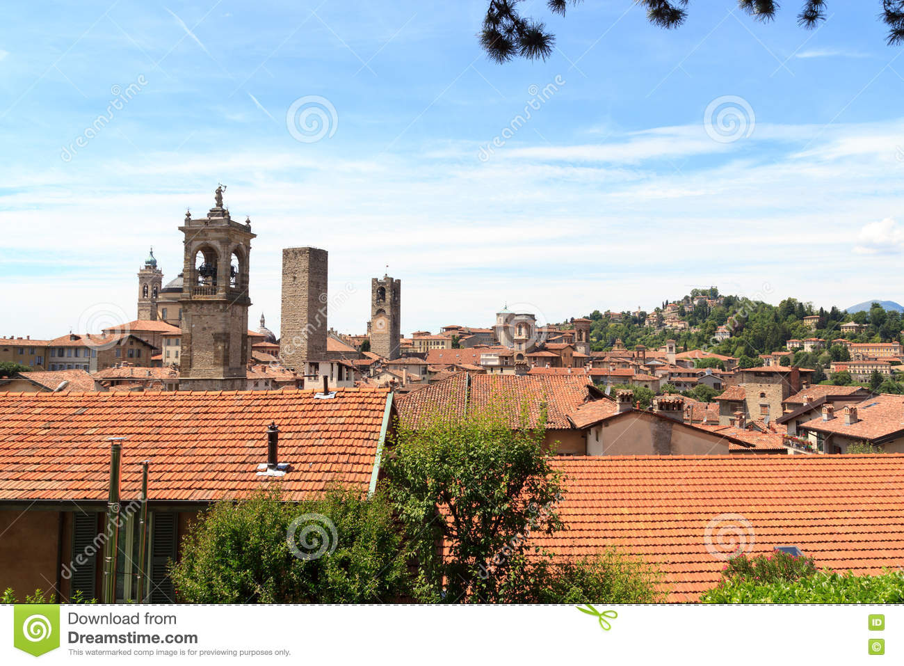 Panorama of bergamo stock photography for Bergamo toons