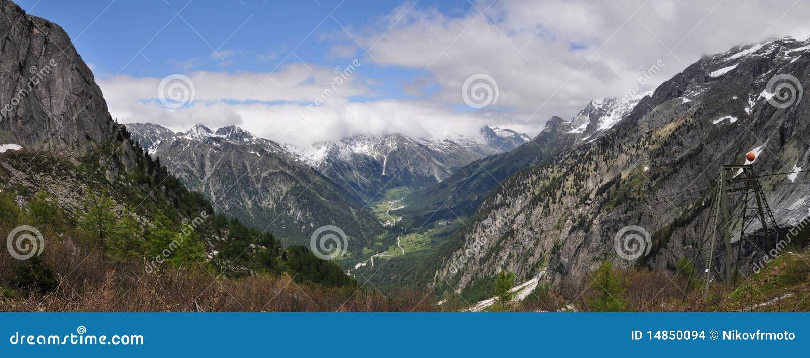 Panorama of Val Bregaglia