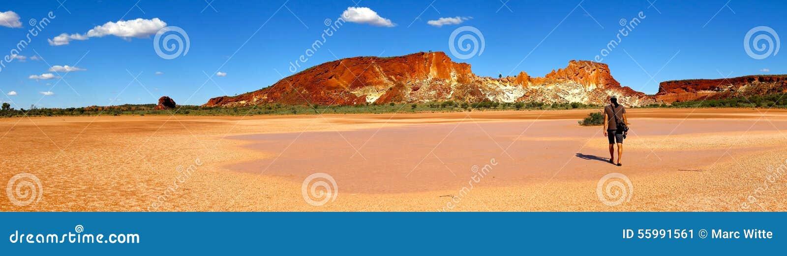 Panorama - vallée d arc-en-ciel, territoire du nord du sud, Australie
