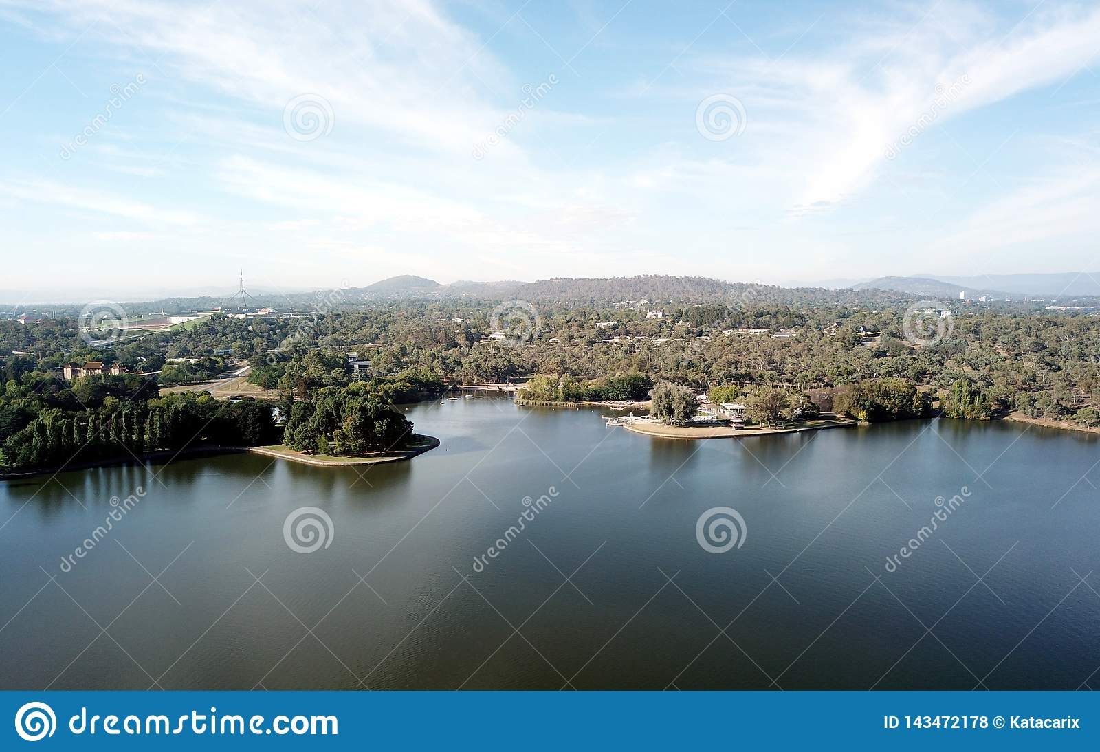 Panorama van Canberra Australië in dag