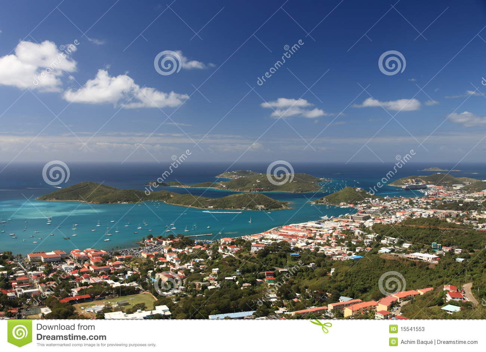Panorama van Charlotte Amalie