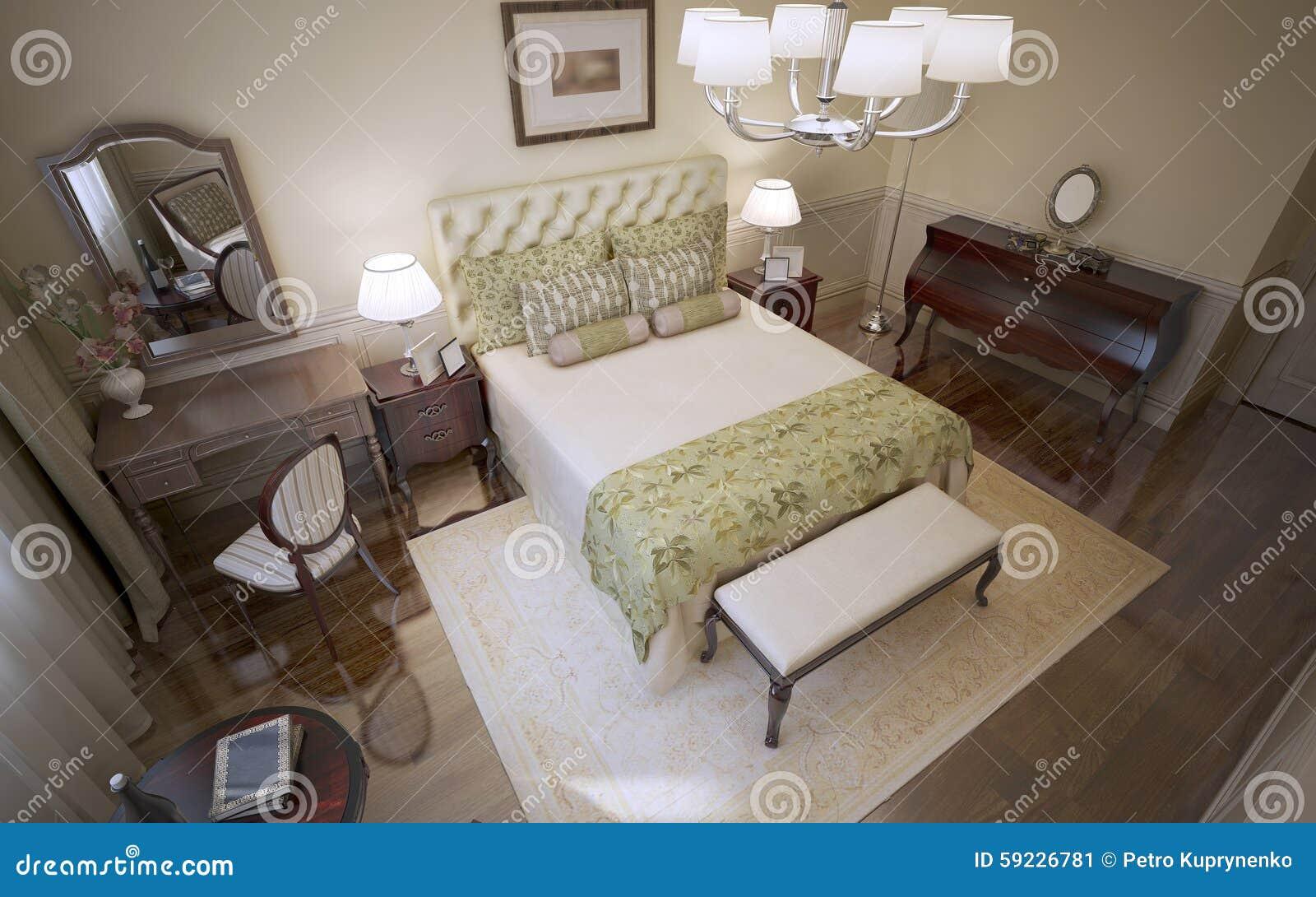 panorama van engelse slaapkamer