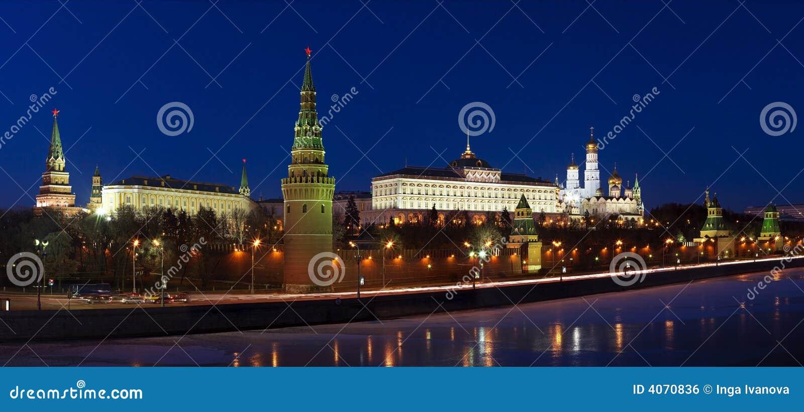 Panorama van het Kremlin in Moskou, Rusland