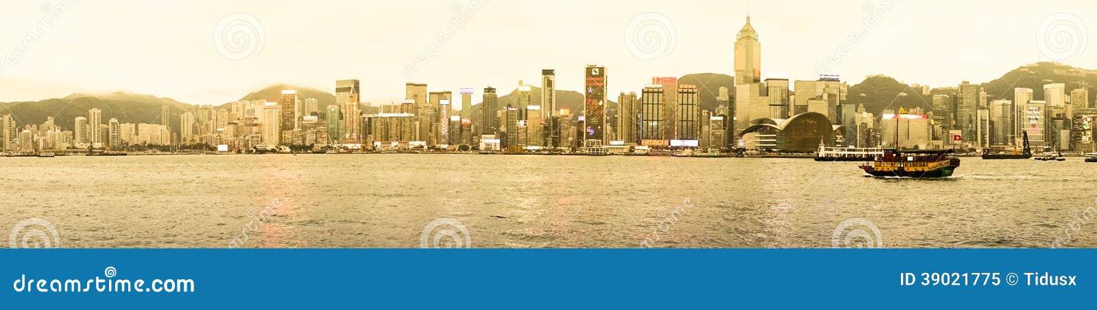 Panorama van Hongkong