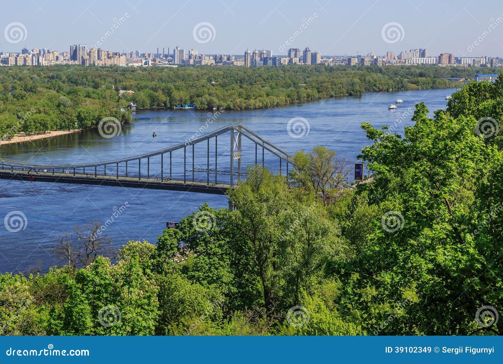 Panorama van Kiev, de Oekraïne.