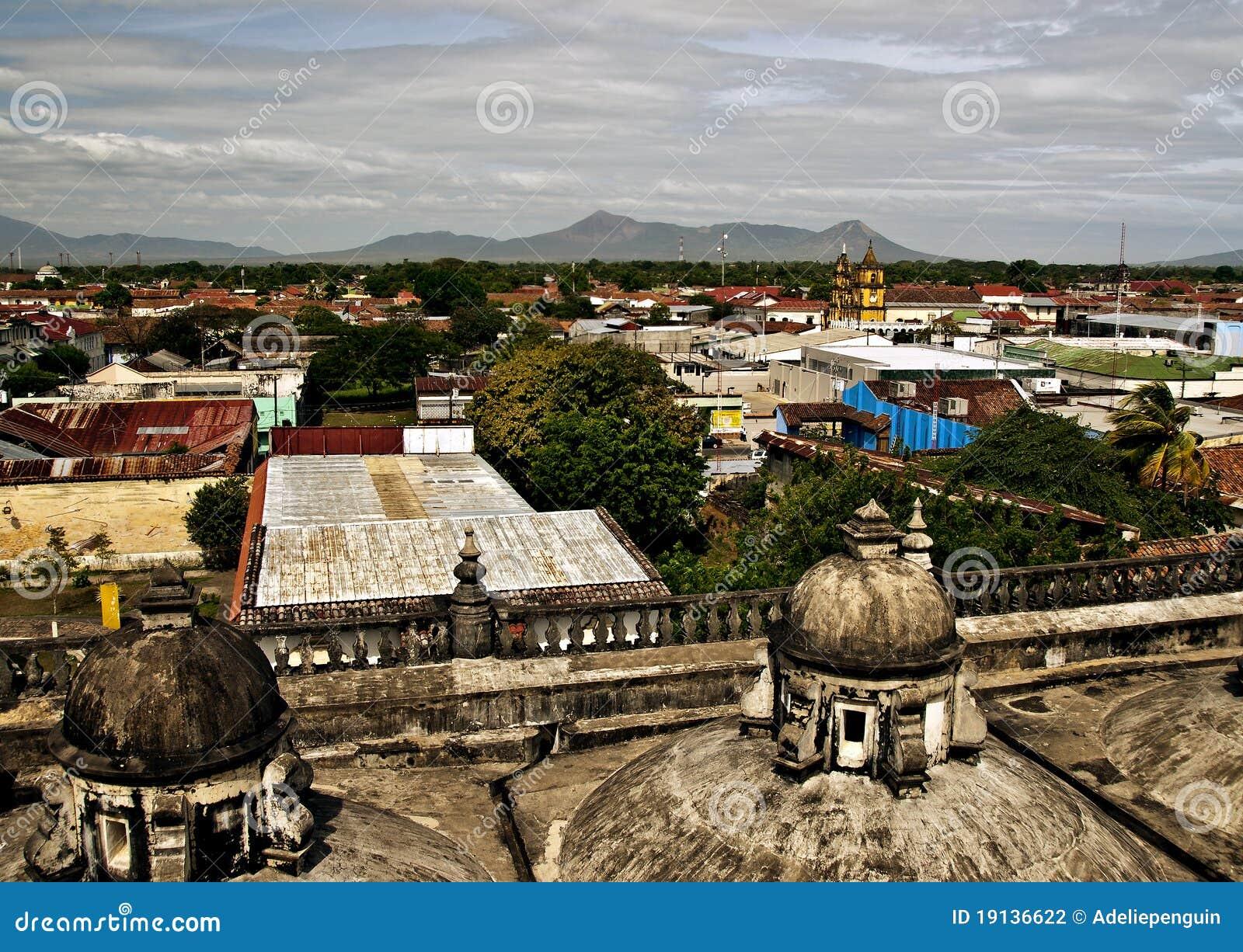 Panorama van Leon, Nicaragua