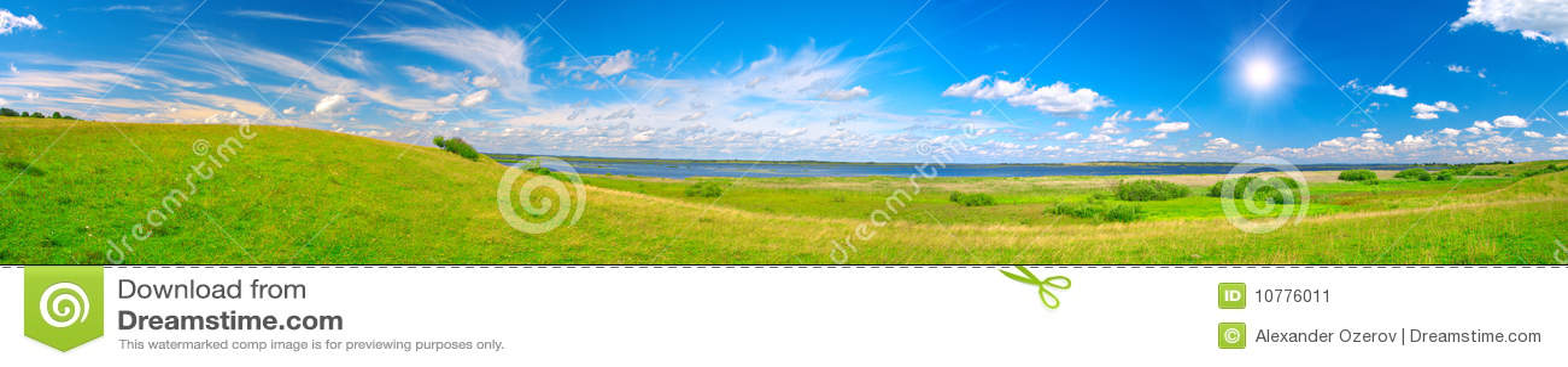 Panorama van mooie groene vallei