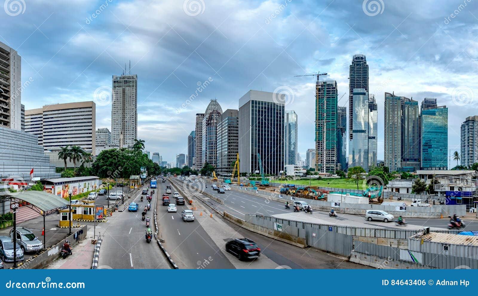 Panorama van mooie horizon van Djakarta, Indonesië