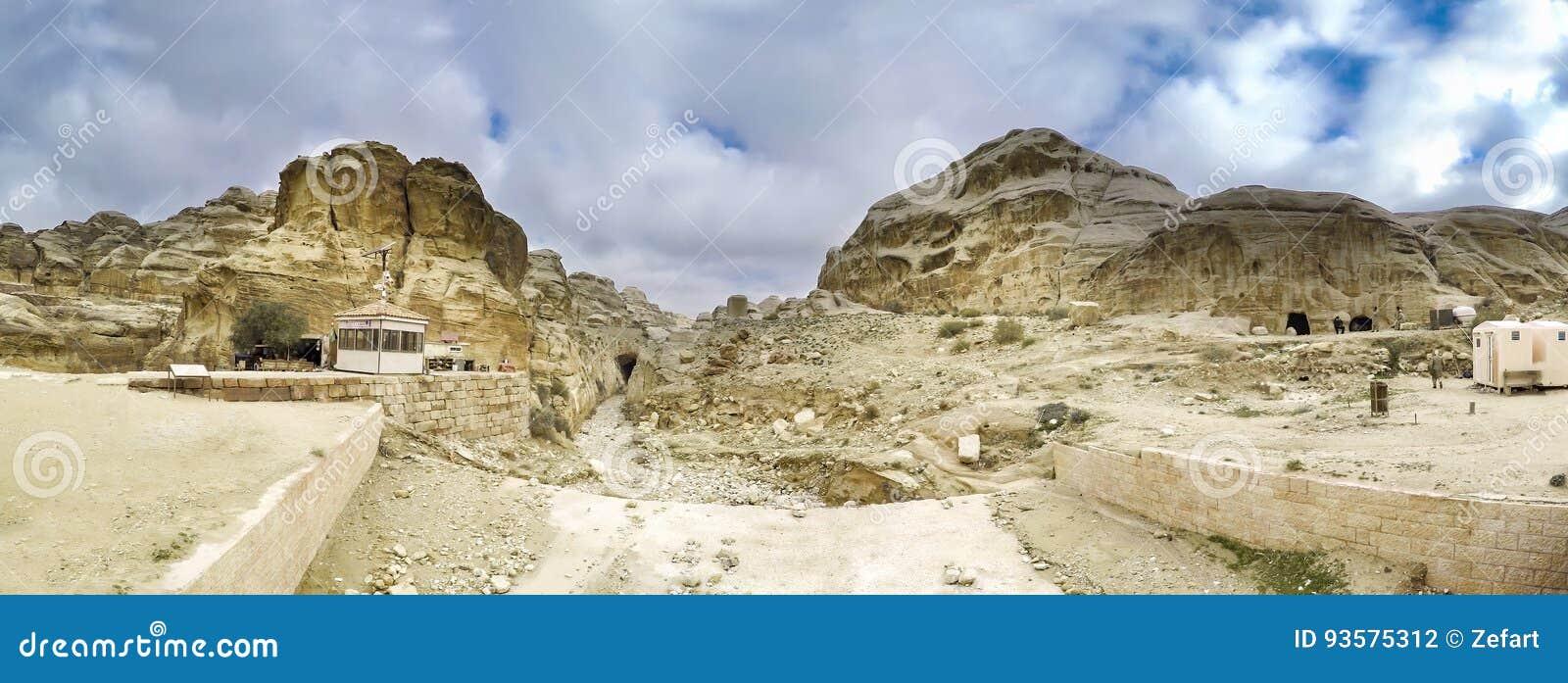 Panorama van Petra, Jordanië