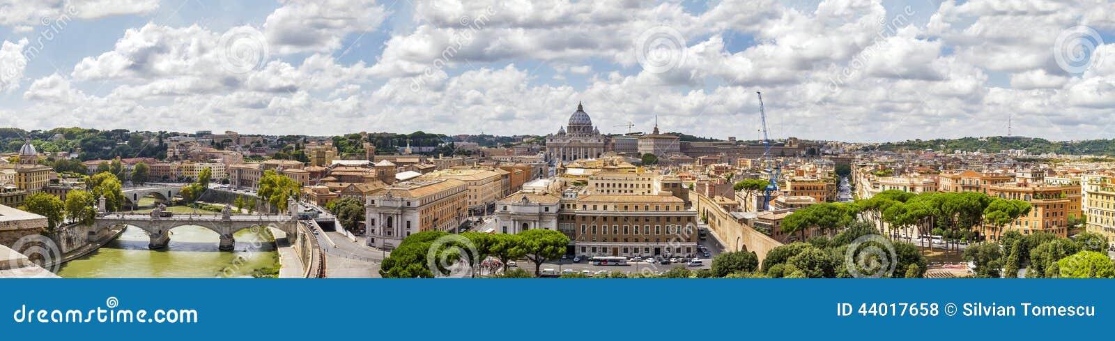 Panorama van Rome, Italië