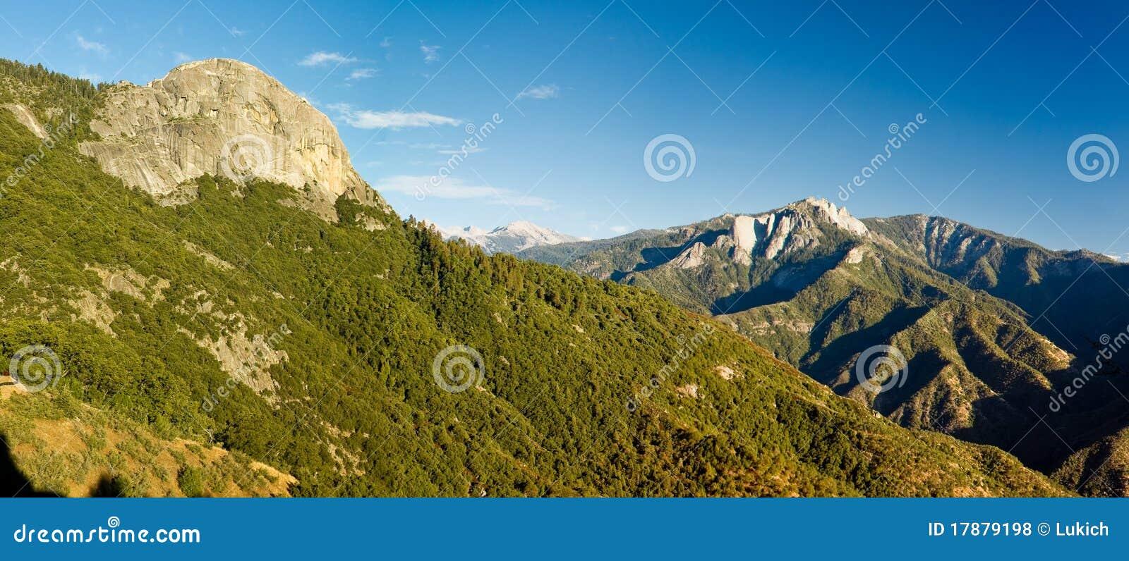 Panorama van Rots Moro in het Nationale Park van de Sequoia