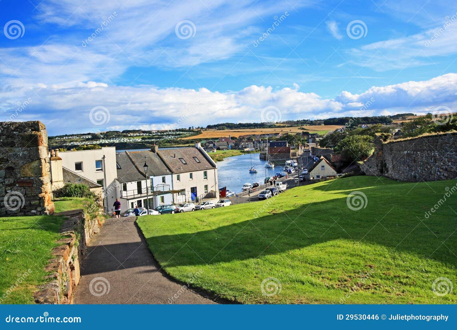 Panorama van St Andrews, Fife, Schotland